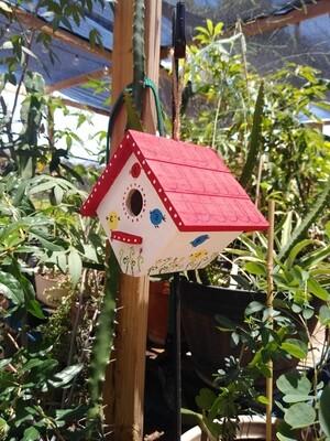 Bird House - Hand Painted