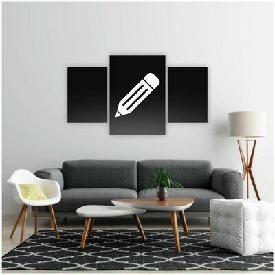¡Personalizar mi mural de 3 Piezas!