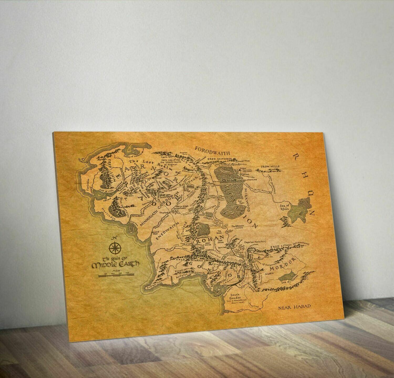Mapa de la tierra media - Señor de los Anillos