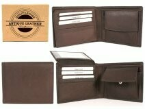 BROWN ANTIQUE LEATHER RFID WALLET