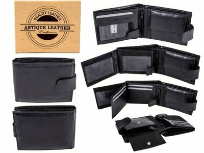 1007 BLACK - ANTIQUE LEATHER RFID