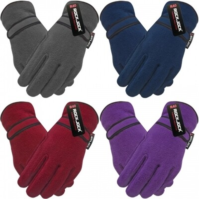 Ladies Polar Fleece R40 Advanced Thermal Fully Insulated Gloves by Rock Jock