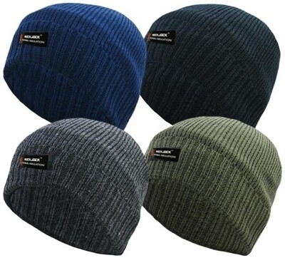 Adults R40 Advanced Thermal Insulated Fully Fleece Lined Beanie Hats by RockJock