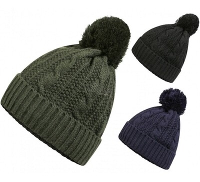 Men's Knitted 3M Thinsulate Waterproof & Windproof Bobble Hat by ProClimate