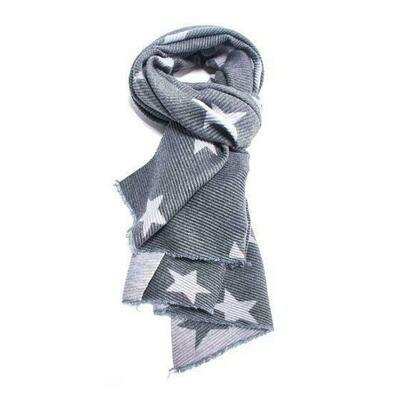 Luxury Multi-Coloured Pleated Star Scarves