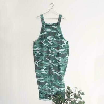 STRETCHY CAMOUFLAGE DUNGAREES