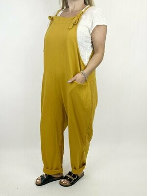 LAGENLOOK HARMONY PLAIN MADE IN ITALY DUNGAREES IN MUSTARD