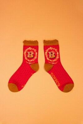 A-Z Ankle Socks - B