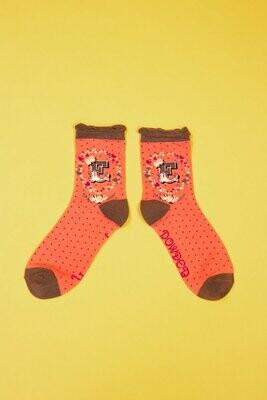 A-Z Ankle Socks - E