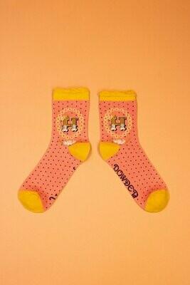 A-Z Ankle Socks - H