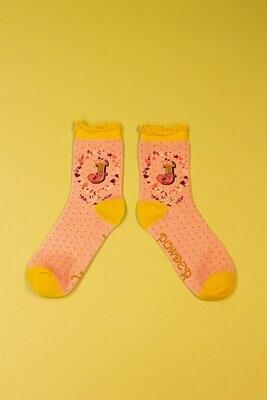 A-Z Ankle Socks - J