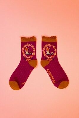 A-Z Ankle Socks - L