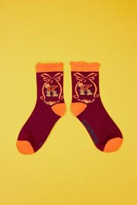 A-Z Ankle Socks - K