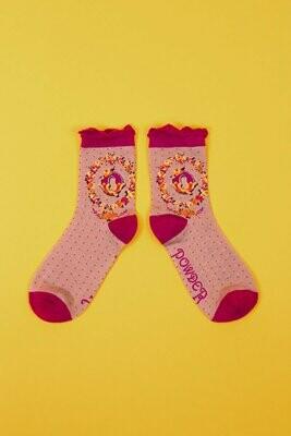 A-Z Ankle Socks - Q