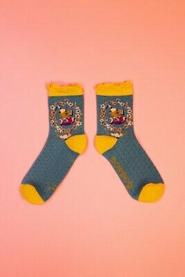 A-Z Ankle Socks - S