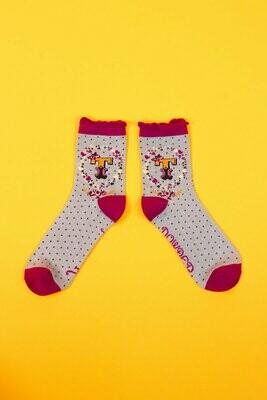 A-Z Ankle Socks - T