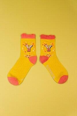 A-Z Ankle Socks - Y