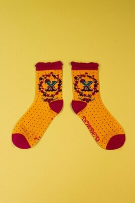 A-Z Ankle Socks - X