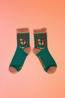 A-Z Ankle Socks - U