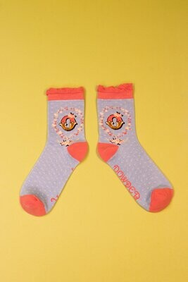 A-Z Ankle Socks - O