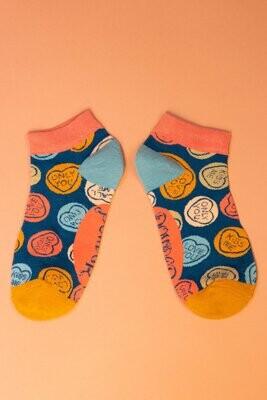 Ladies Trainer Socks Love Hearts