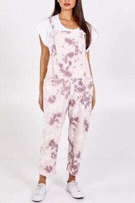 Tie Dye Dungarees 3/4 Length