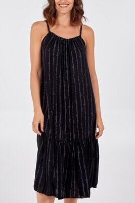 Strappy Brush Stroke Midi Dress