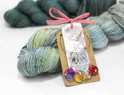 Gradient Glass stitch markers