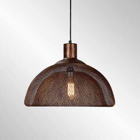 Mesh Aged Copper Светильник из меди в стиле индастриал