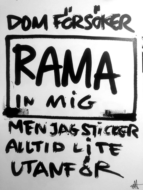Rama - signerad poster