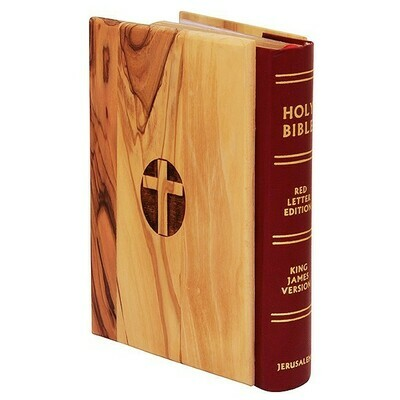 King James Bible - Olive Wood - The Lord's Prayer - Made in the Holy Land