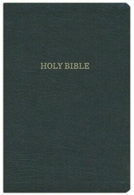 KJV Reference Bible, Giant Print, Black Bonded Leather, Indexed