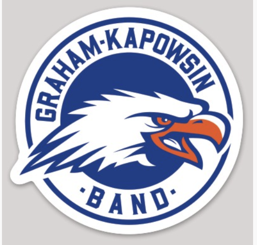 "3"" Glossy GK Band Logo Sticker"