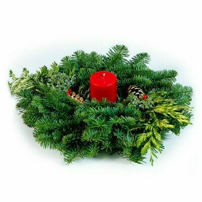 """12"""" Noble Fir Candle Ring"""