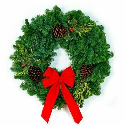 """20"""" - Small Deluxe Noble Fir Wreath"""