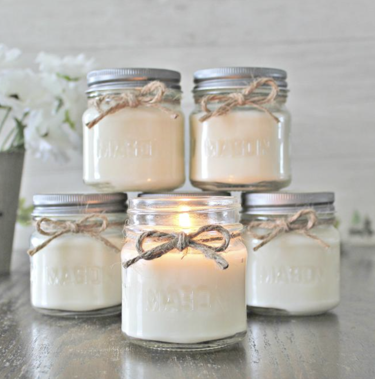 8oz - Soy Hand Poured Mason Jar Candle