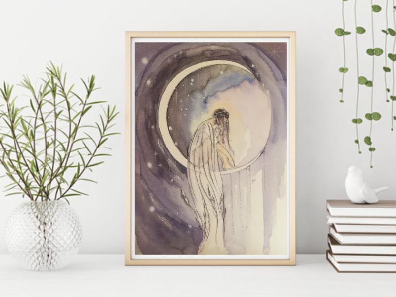 Serenity Goddess Fine Art Giclée Print A4