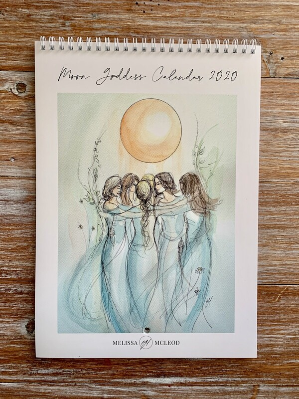 Moon Goddess Calendar 2020 FREE Shipping in Australia
