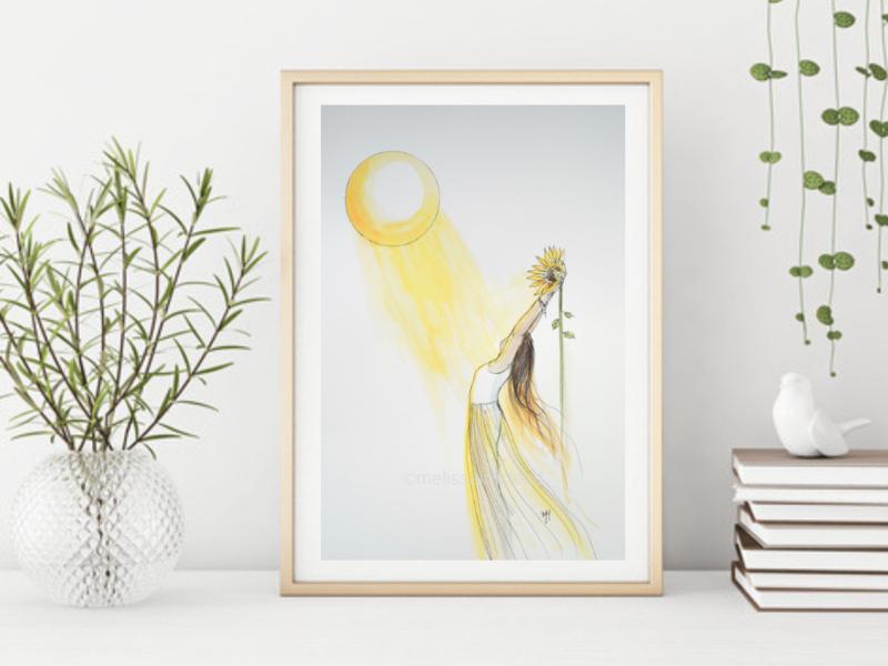 Sun Goddess -Signed Giclee Print