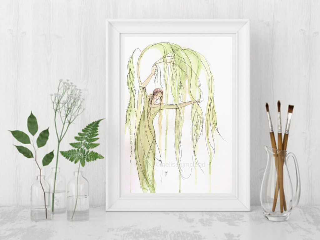 Willow Tree Goddess Fine Art Print A4 & A3 sizes