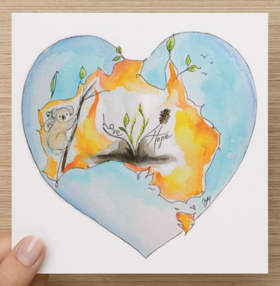 The Australian Fire Relief Note card