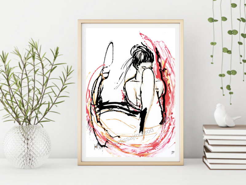 Fine Art Giclée Print - Woman Within
