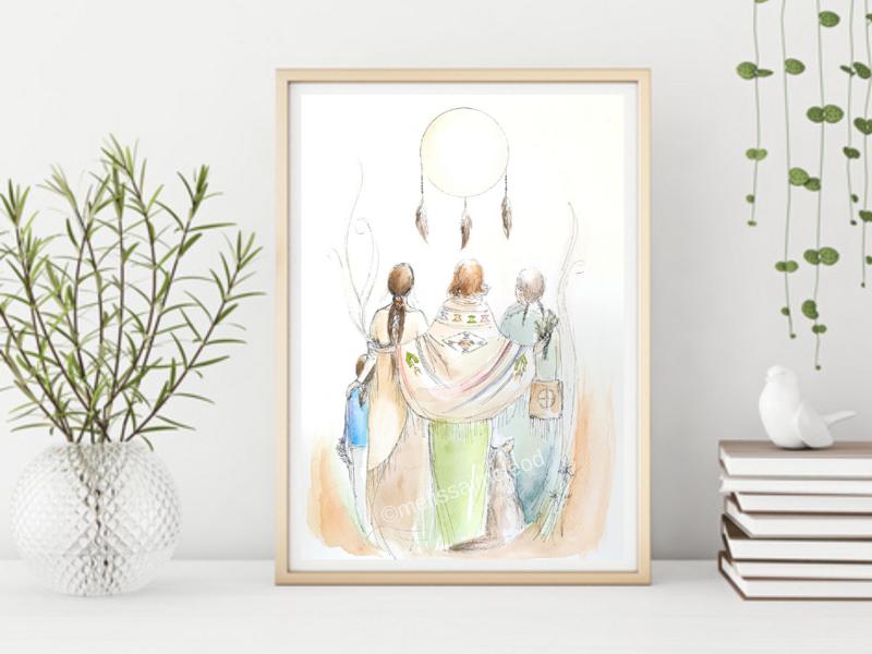 Fine Art Giclée Print - Spirit Sisters
