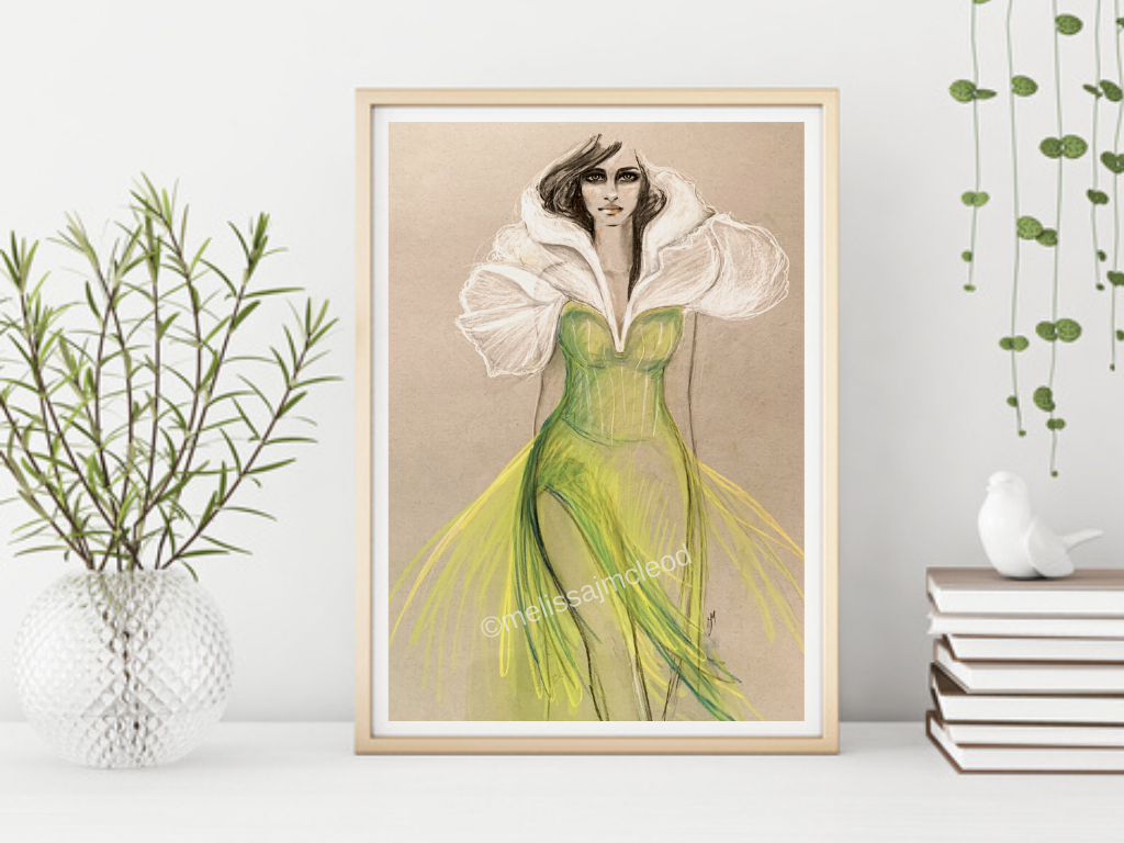 Fine Art Giclée Print - Carnation Femme Florale