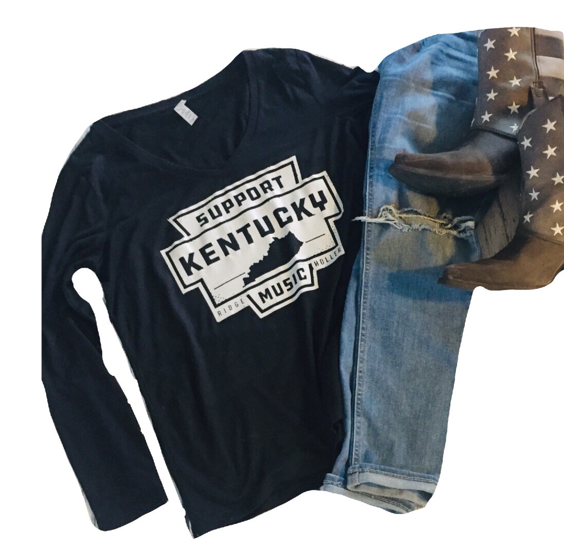 Support Ky Music Ladies V-neck Long Sleeve