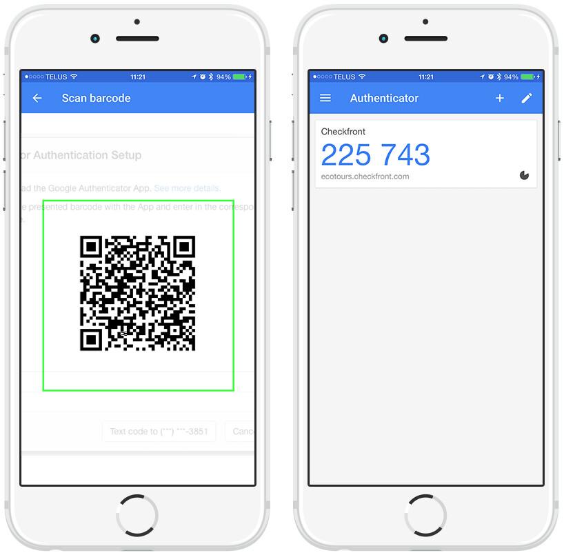 Google Authenticator App setup