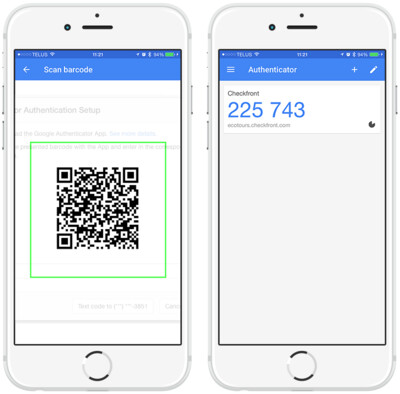 Google Authenticator App setup