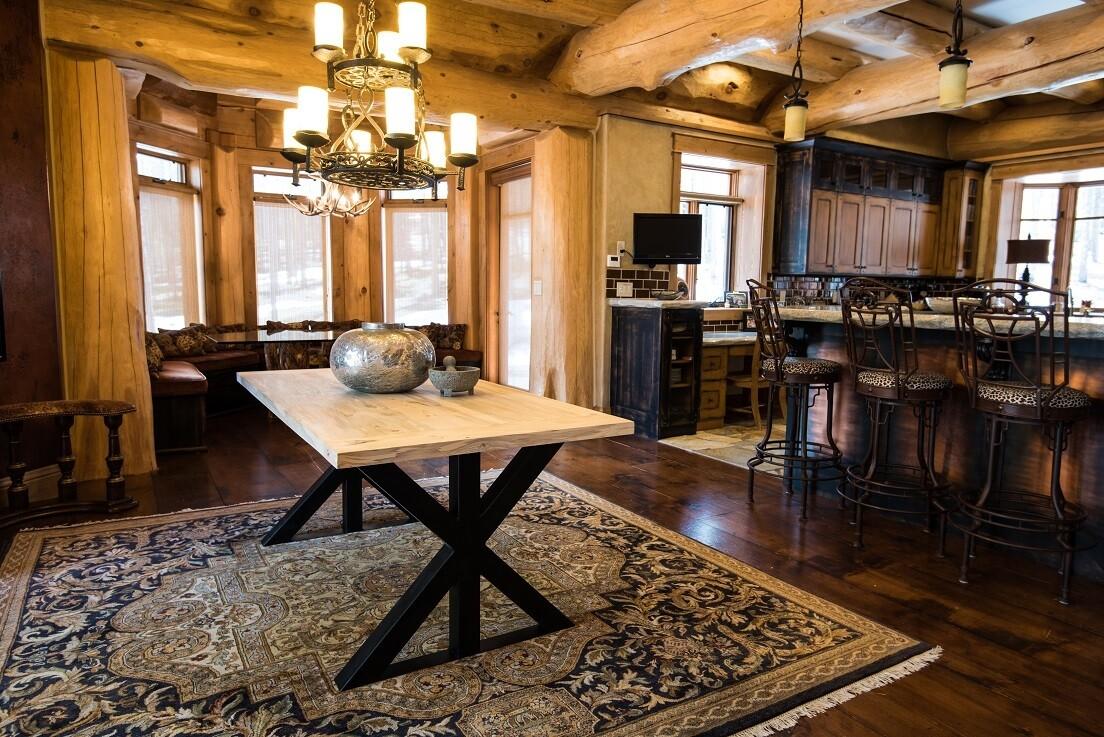 Bighorn Beetle Kill Dining Table
