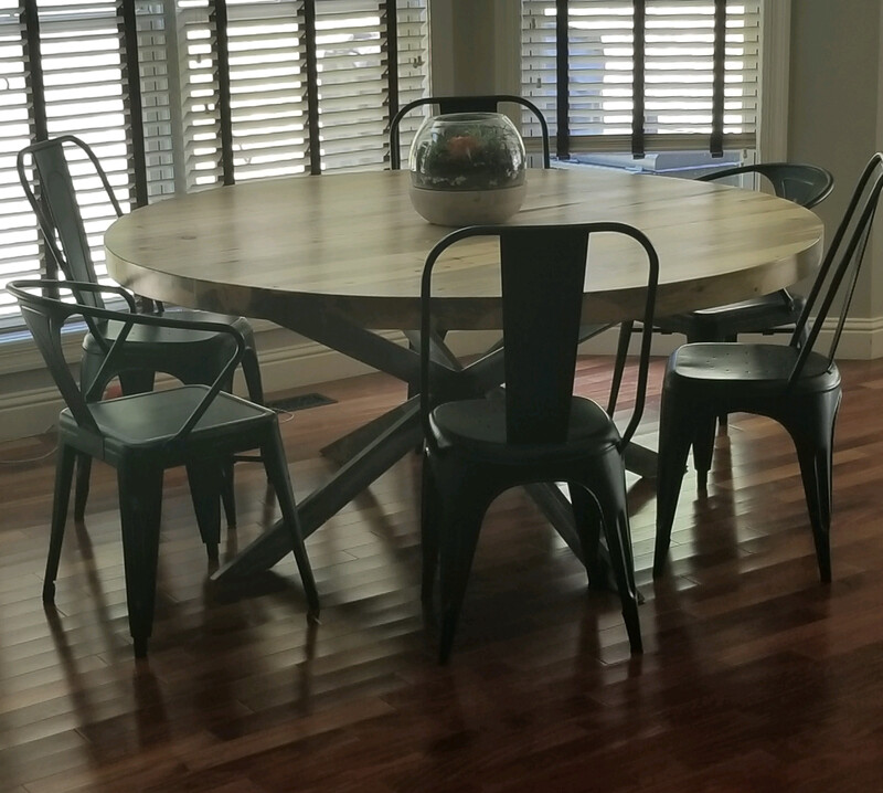 Cathedral Beetle Kill Round Dining Table