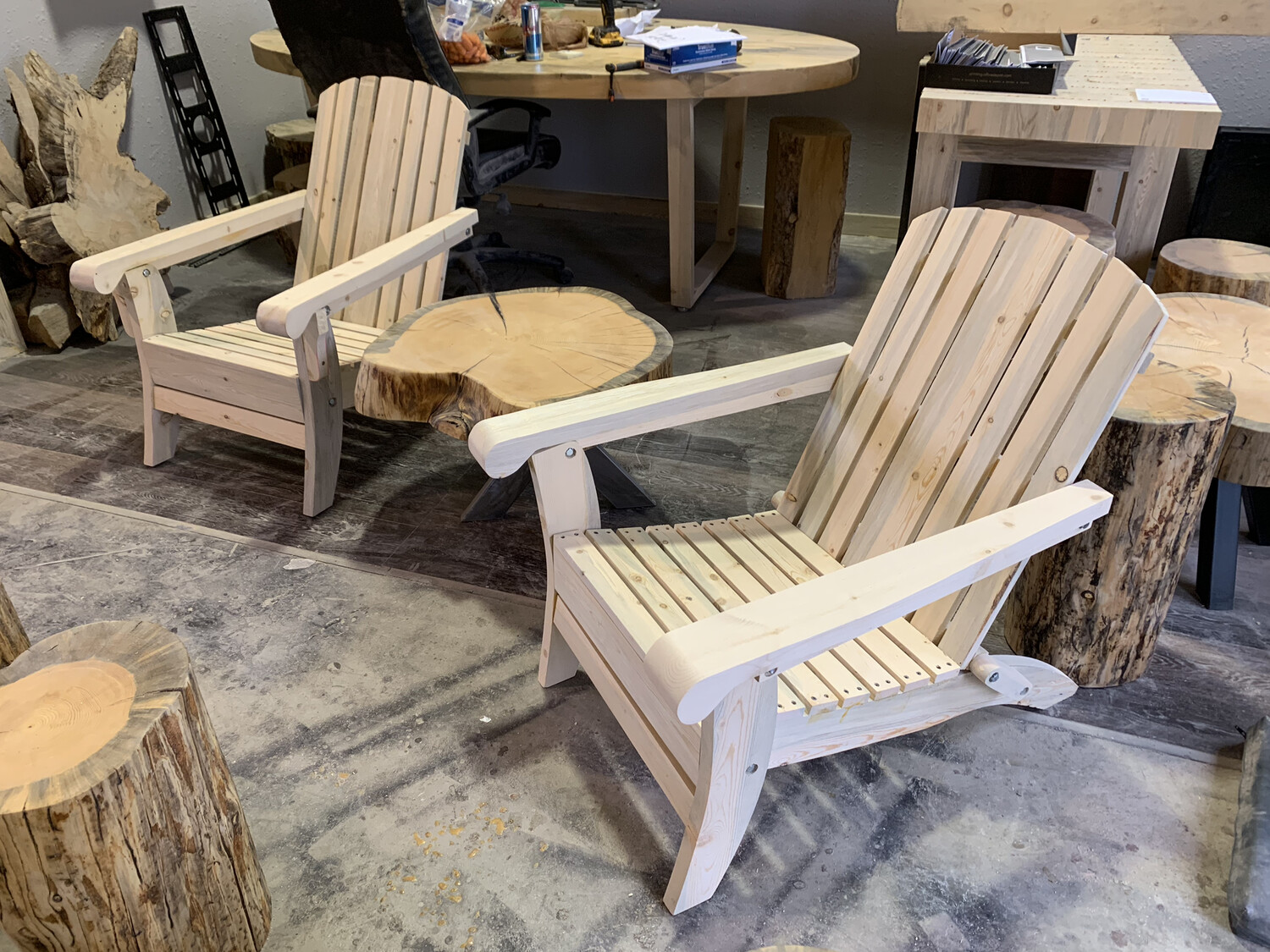 Beetle Kill Adirondack Chair